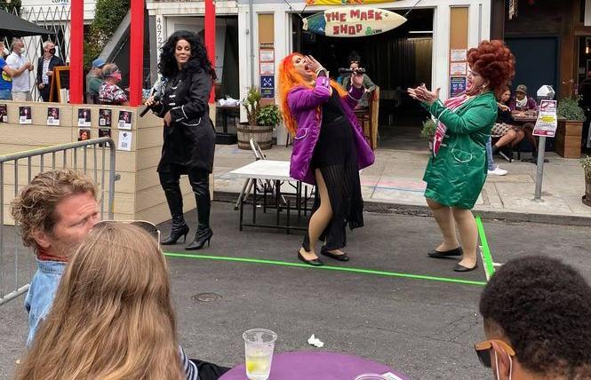 Masks and Mascara, an outdoor drag show on 18th Street