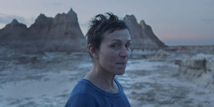 """Frances McDormand in a scene from the film """"Nomadland."""""""