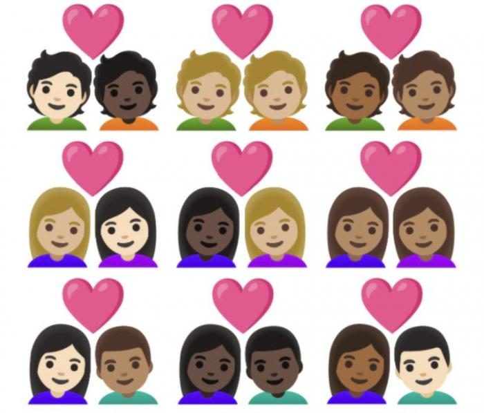 Some of the new emoji for 2021.
