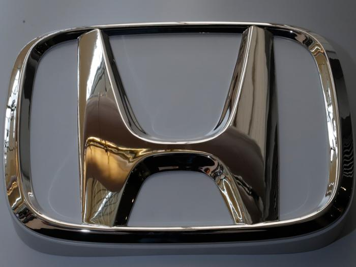 The Honda logo is seen on display at the 2020 Pittsburgh International Auto Show, Thursday, Feb. 13, 2020, in Pittsburgh