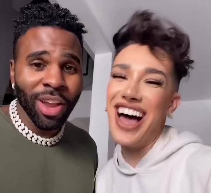 Jason Derulo, left, and James Charles, right