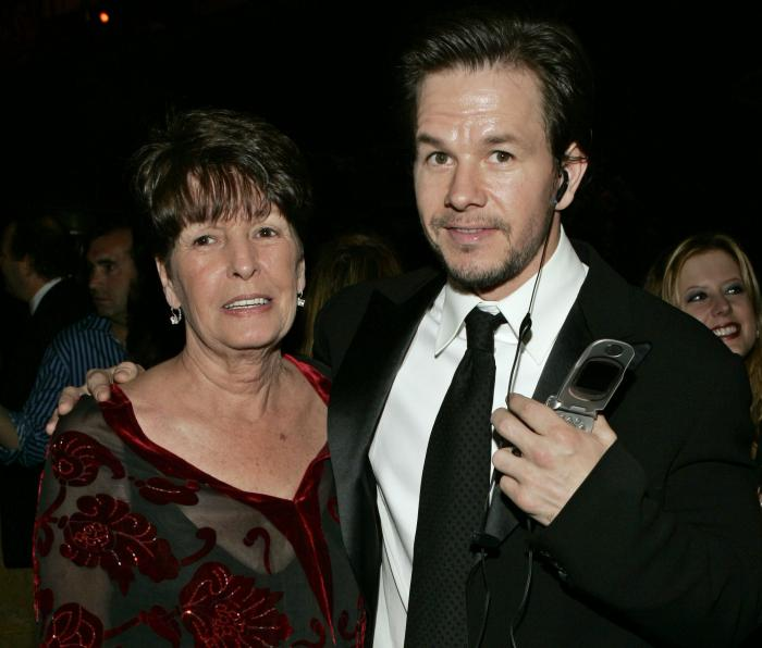 "In this Sunday, Jan. 16, 2005, file photo, Mark Wahlberg, executive producer of the HBO series ""Entourage,"" and his mother Alma pose at the HBO party after the 62nd Annual Golden Globe Awards, in Beverly Hills, Calif."