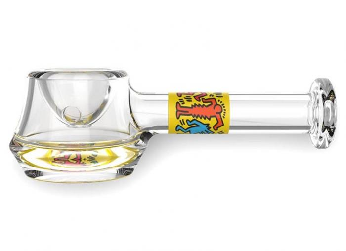 K. Haring glass spoon pipe